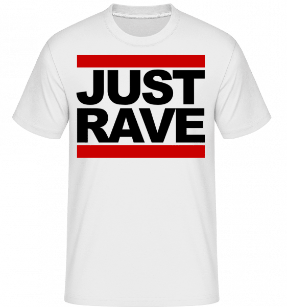 Just Rave Logo -  Shirtinator Men's T-Shirt - White - Vorn