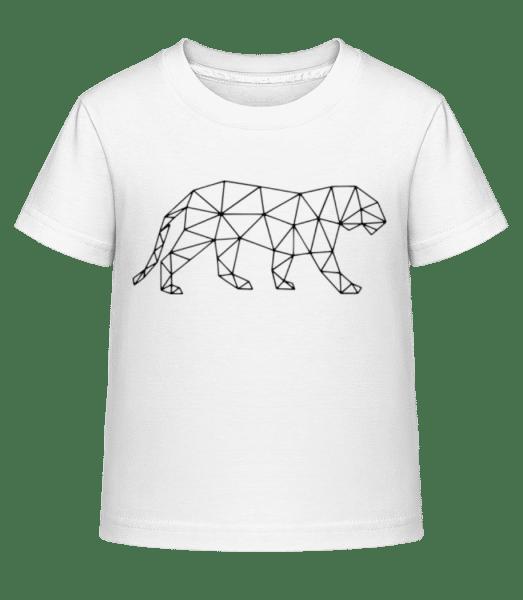 Polygon Tiger - Kid's Shirtinator T-Shirt - White - Vorn