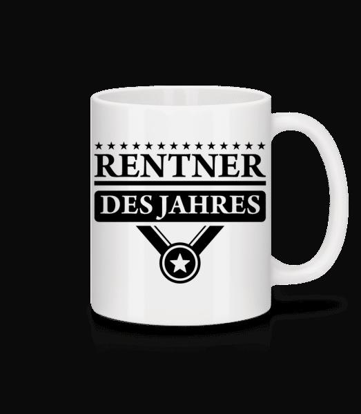 Rentner Des Jahres - Tasse - Weiß - Vorn