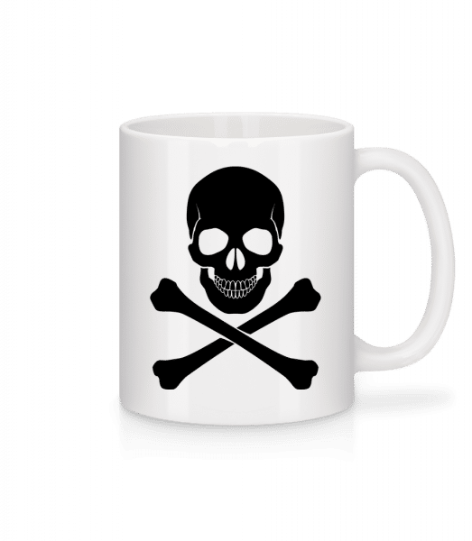 Skull And Bones - Mug - White - Vorn