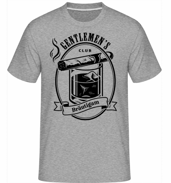 Gentlemen's Club Bräutigam - Shirtinator Männer T-Shirt - Grau meliert - Vorn
