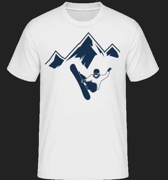 Snowboarding Mountains -  Shirtinator Men's T-Shirt - White - Vorn