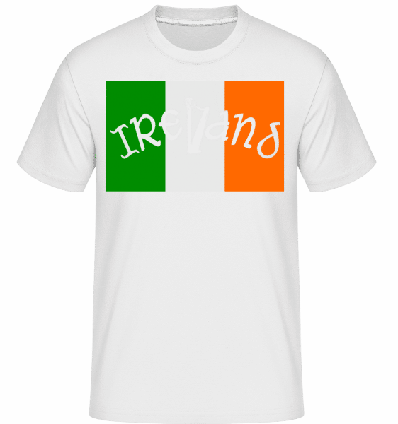 Ireland Flag -  Shirtinator Men's T-Shirt - White - Vorn