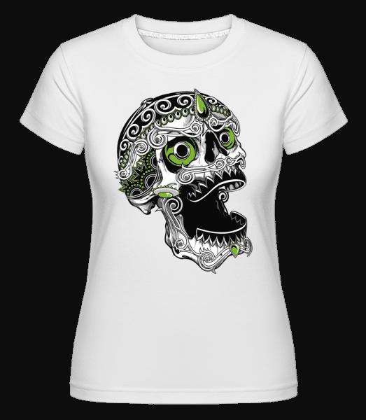 Cool Skull -  Shirtinator Women's T-Shirt - White - Vorn