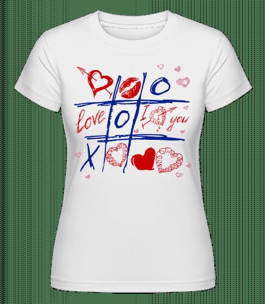 Love Raster Valentine - Shirtinator Frauen T-Shirt - Weiß - Vorn