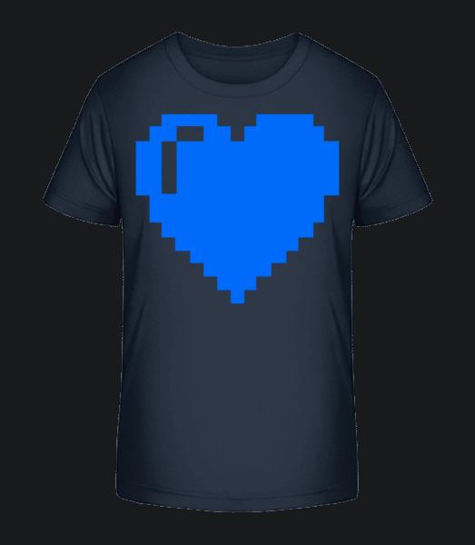 8 Bit Heart - Kid's Premium Bio T-Shirt - Navy - Vorn