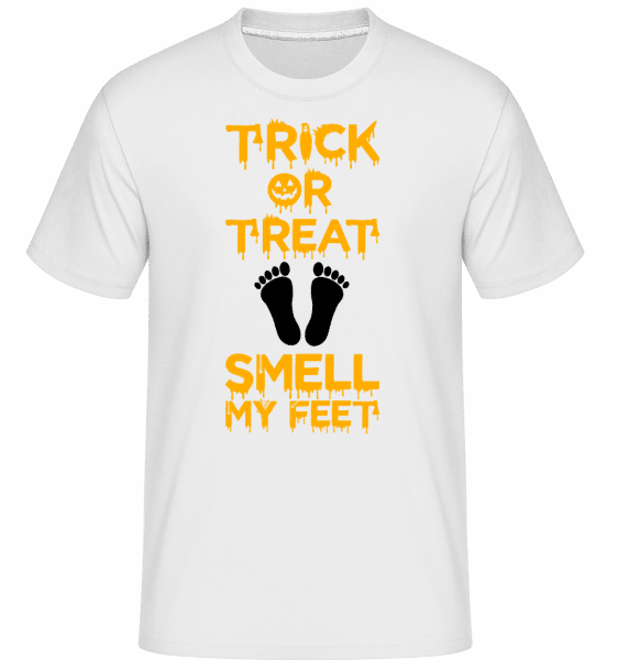 Trick Or Treat, Smell My Feet - Shirtinator Männer T-Shirt - Weiß - Vorn