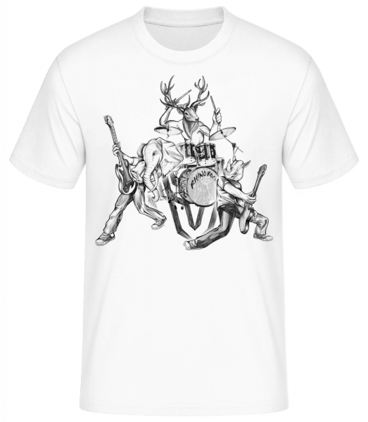 Wild Band - Men's Basic T-Shirt - White - Front