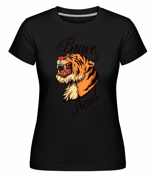 Tiger Head -  Shirtinator Women's T-Shirt - Black - Vorn