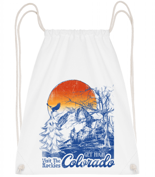 Get High Colarado - Drawstring Backpack - White - Vorn
