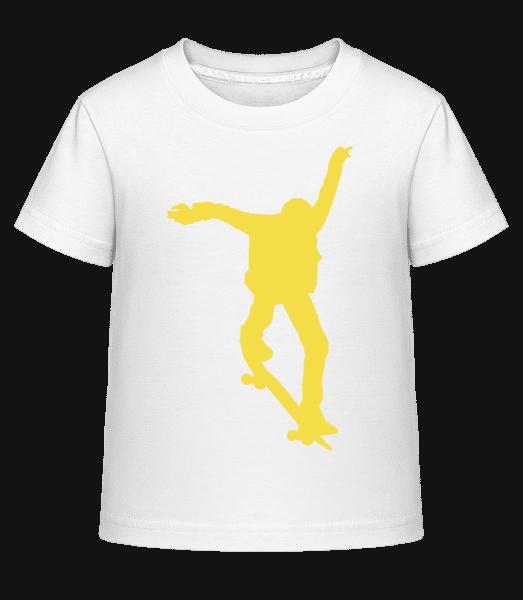Skater Jump - Kid's Shirtinator T-Shirt - White - Vorn