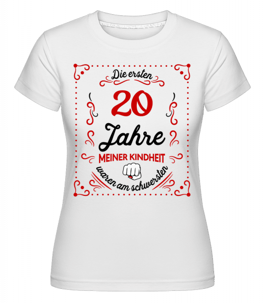 Die Ersten 20 Jahre - Shirtinator Frauen T-Shirt - Weiß - Vorn