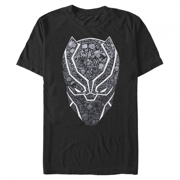 Panther Icon Fill Black Panther - Marvel Avengers - Men's T-Shirt - Black - Front