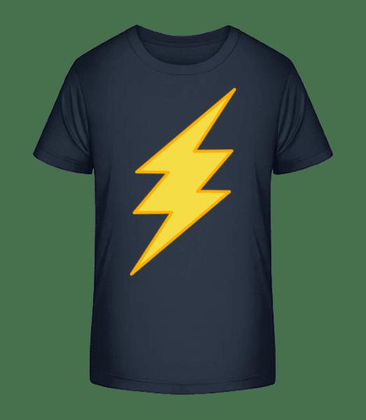 Flash Icon - Kid's Premium Bio T-Shirt - Navy - Vorn