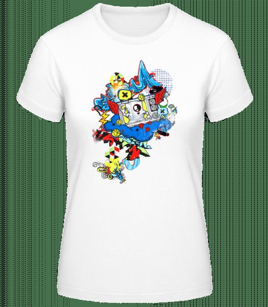Modern graffiti - Basic T-Shirt - White - Vorn