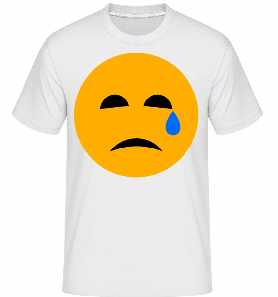 Crying Smiley -  Shirtinator Men's T-Shirt - White - Vorn
