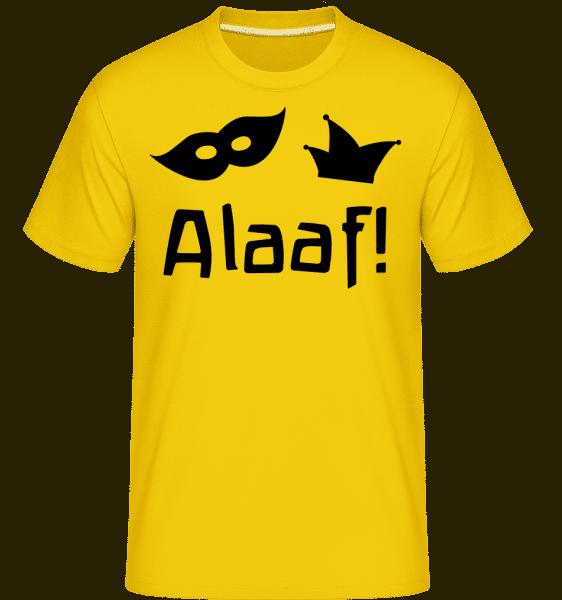 Alaaf! -  Shirtinator Men's T-Shirt - Golden yellow - Vorn
