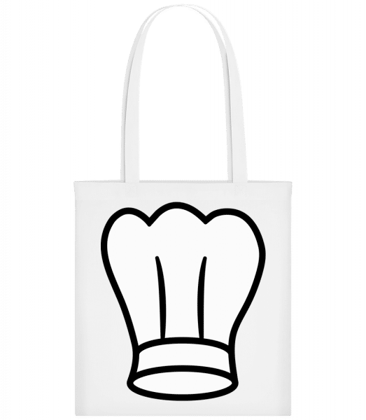 Kochmütze - Stoffbeutel - Weiß - Vorn