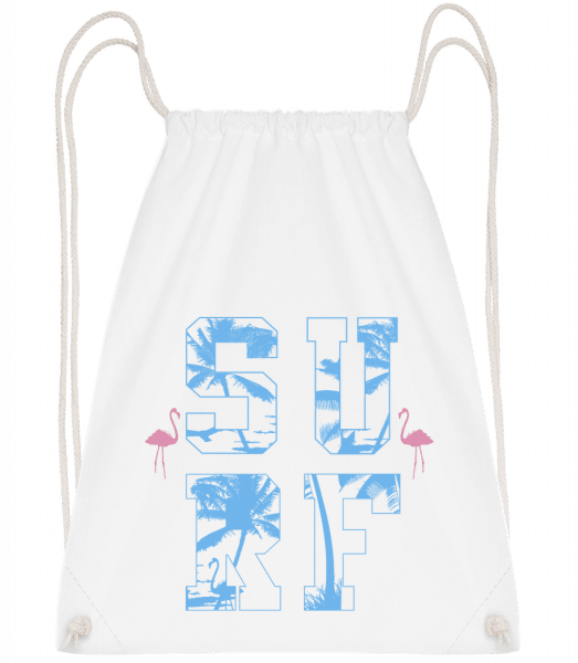 Surf Icon - Drawstring Backpack - White - Vorn