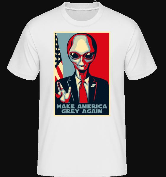 Make America Grey Again -  Shirtinator tričko pro pány - Bílá - Napřed
