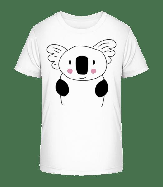 Cute Koala - Detské Premium Bio tričko - Biela - Predné