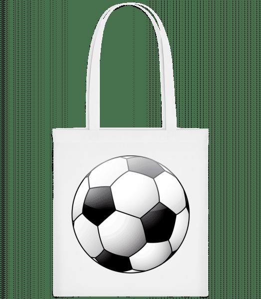 Fußball - Stoffbeutel - Weiß - Vorn