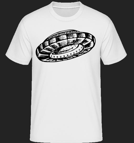 Ufo - Shirtinator Männer T-Shirt - Weiß - Vorn