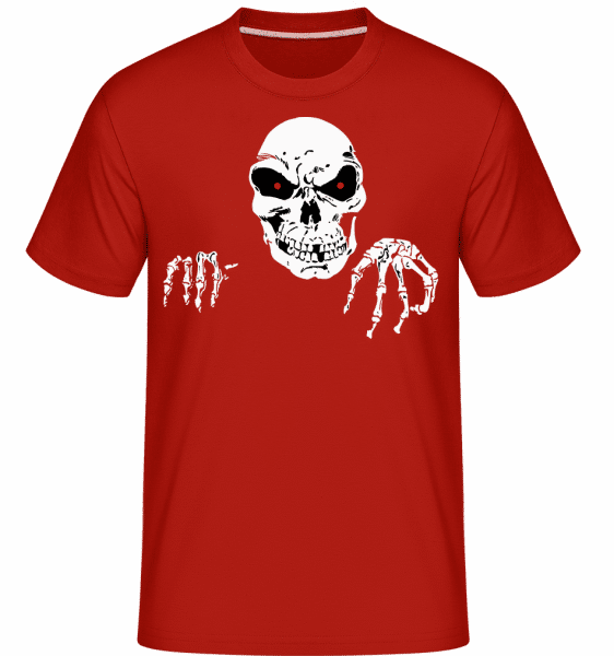 Creepy Death -  Shirtinator Men's T-Shirt - Red - Vorn