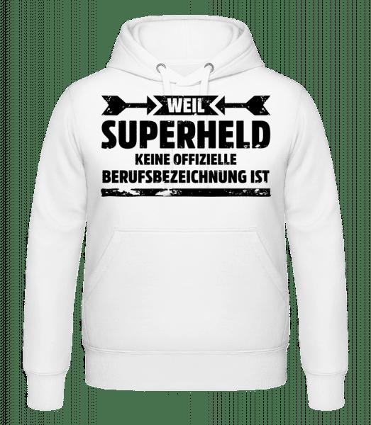 Superheld - Kapuzenhoodie - Weiß - Vorn