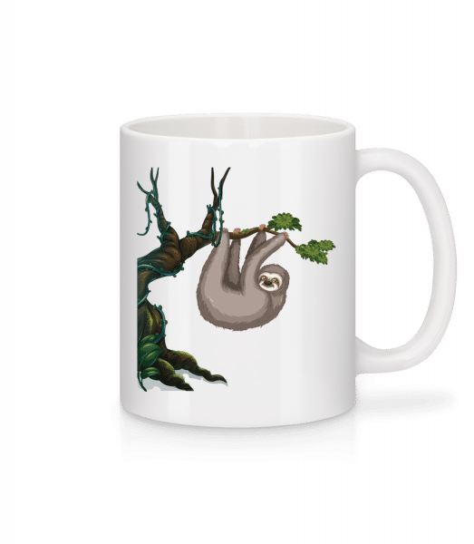Sloth Hanging On A Tree - Mug - White - Vorn