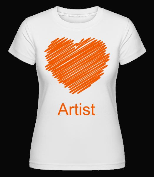 Artist Heart -  Shirtinator tričko pre dámy - Biela - Predné