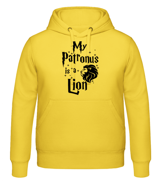 My Patronus Is A Lion - Hoodie - Yellow - Vorn