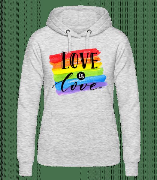 Love Is Love - Women's hoodie - Heather grey - Vorn