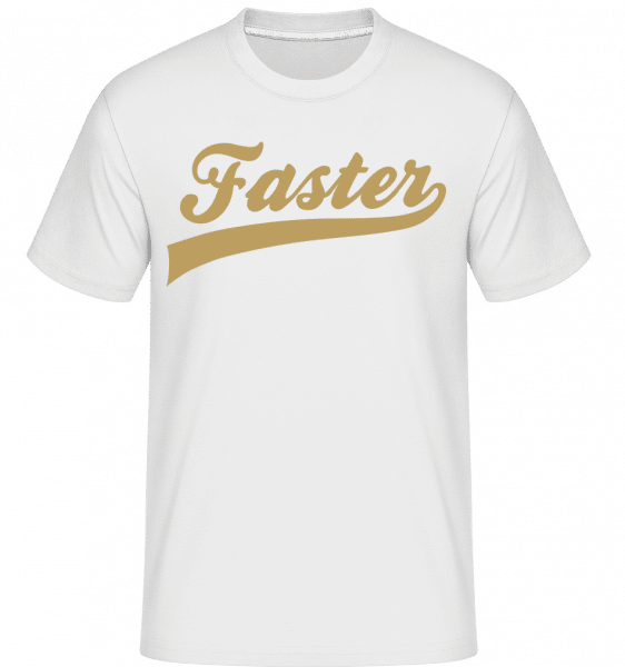 Faster Stroke -  Shirtinator Men's T-Shirt - White - Vorn