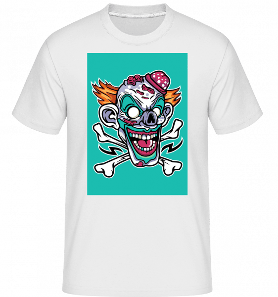 Clown -  Shirtinator tričko pro pány - Bílá - Napřed