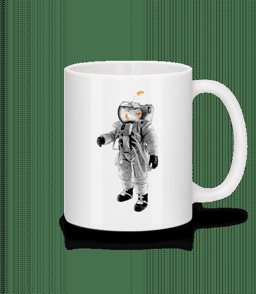 Goldfish Astronaut - Keramický hrnček - Biela - Predné