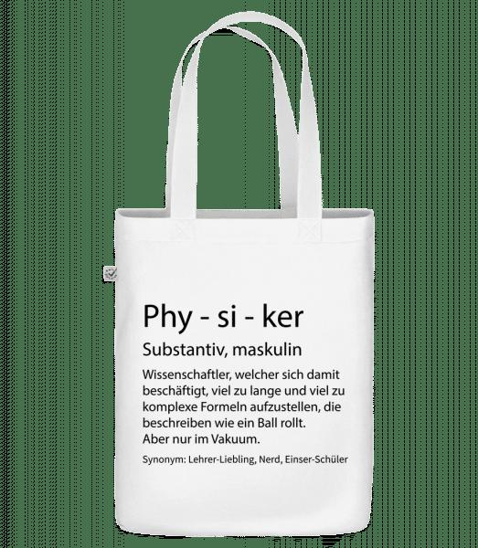 Physiker Quatsch Duden - Bio Tasche - Weiß - Vorn