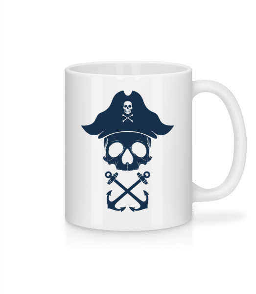 Pirate Skull - Mug - White - Front