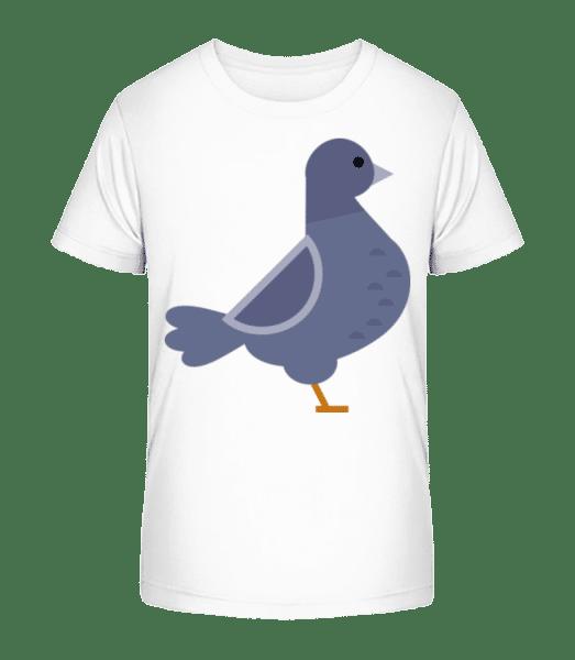 Pigeon Image - Kid's Premium Bio T-Shirt - White - Vorn