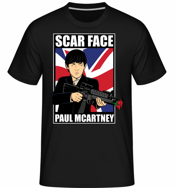 Paul Mccartney Scar Face -  Shirtinator Men's T-Shirt - Black - Vorn
