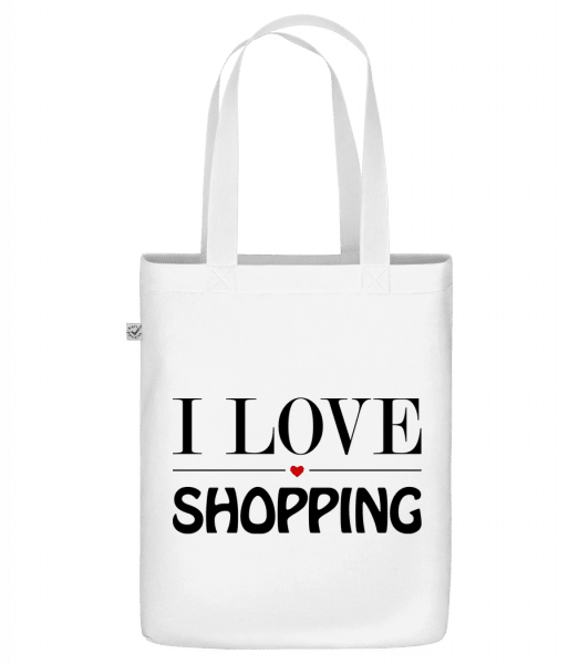 "I Love Shopping - Organic ""Earth Positive"" tote bag - White - Vorn"
