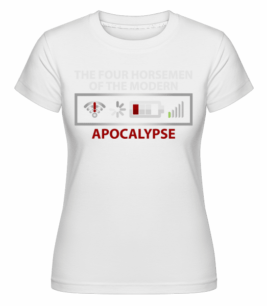 Modern Apocalypse -  Shirtinator Women's T-Shirt - White - Front