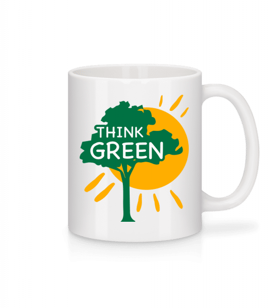 Think Green - Mug - White - Vorn