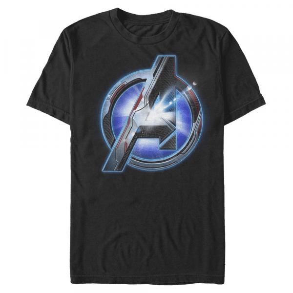 Tech Logo - Marvel Avengers Endgame - Men's T-Shirt - Black - Front