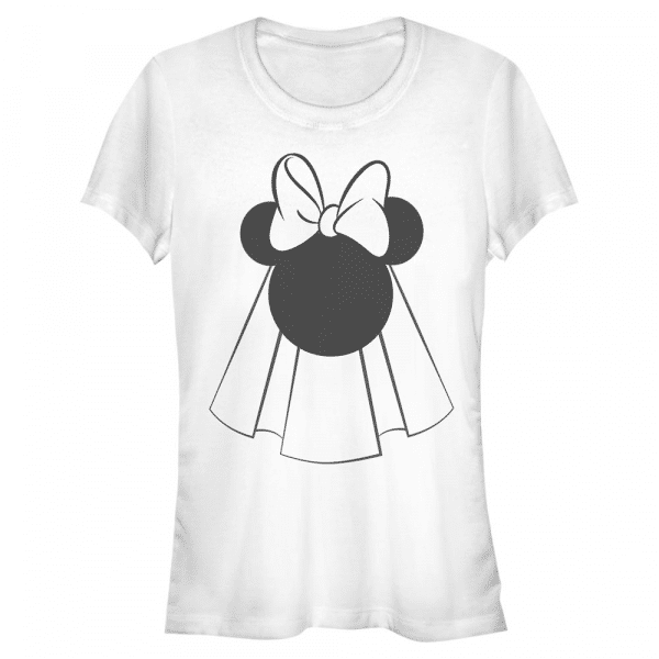 Mouse Bride Minnie Mouse - Disney Mickey - Women's T-Shirt - White - Front