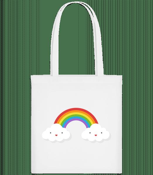 Glückliche Regenbogen - Stoffbeutel - Weiß - Vorn