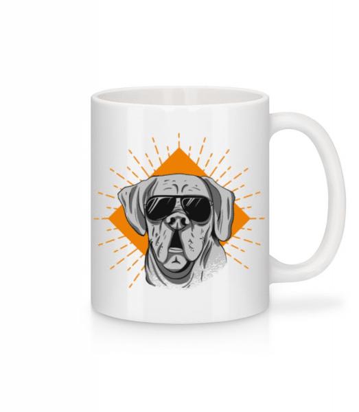 Sunglasses Dog - Mug - White - Front