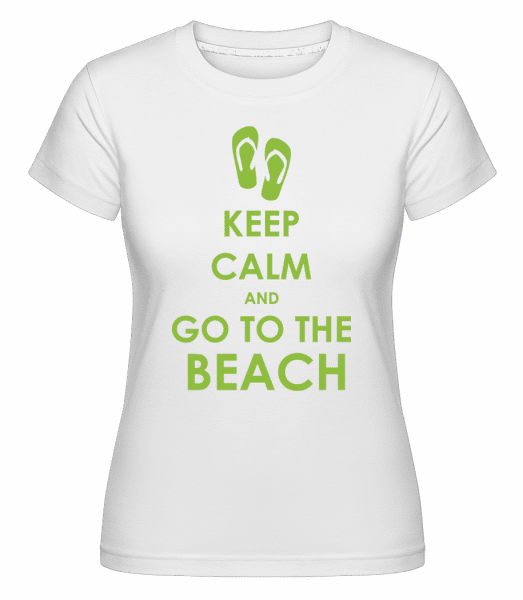 Go To The Beach -  Shirtinator Women's T-Shirt - White - Vorn