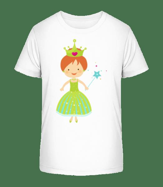 Princess Kids - Kid's Premium Bio T-Shirt - White - Vorn