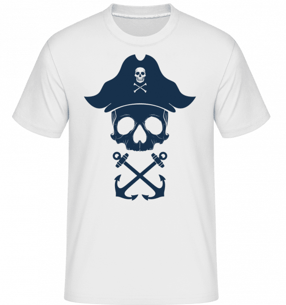 Pirate Skull -  Shirtinator Men's T-Shirt - White - Vorn